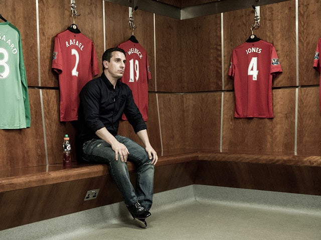 Gary Neville during a photoshoot for the documentary 'The Class of '92'