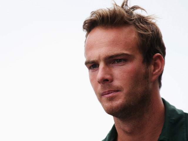 Giedo van der Garde of The Netherlands and Caterham is seen following practice for the Brazilian Formula One Grand Prix at Autodromo Jose Carlos Pace on November 22, 2013