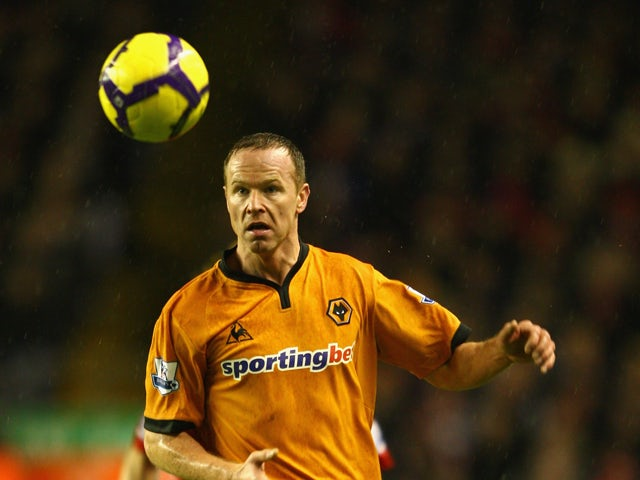 Jody Craddock of Wolverhampton Wanderers in action during the Barclays Premier League match between Liverpool and Wolverhampton Wanderers at Anfield on December 26, 2009