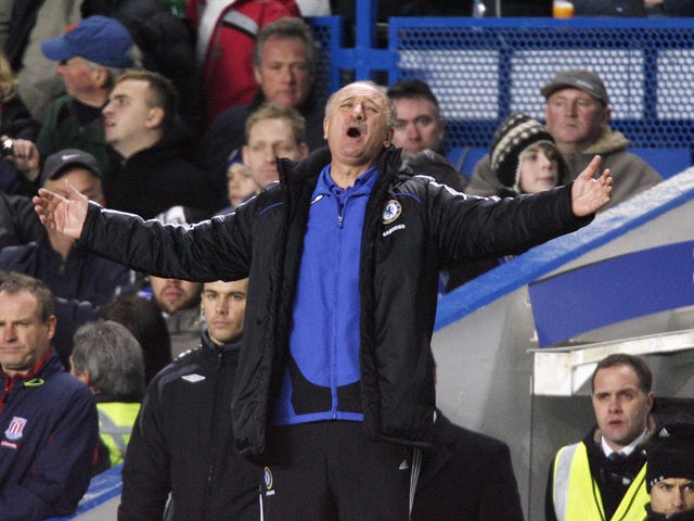 Chelsea's Brazilian manager Luiz Felipe Scolari gestures during their Premier League match against Stoke at Stamford Bridge, London, on January 17, 2008