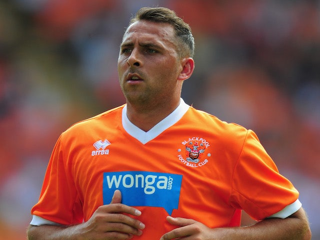 Blackpool player Michael Chopra in action during the pre season friendly match between Blackpool and Newcastle United at Bloomfield Road on July 28, 2013