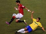 Mohamed Salah in action for Egypt against Brazil on July 07, 2011.