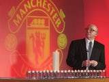 Nobby Stiles of Manchester United speaks during the memorial service to mark the 50th anniversary of the Munich Air Disaster at Old Trafford on February 6 2008