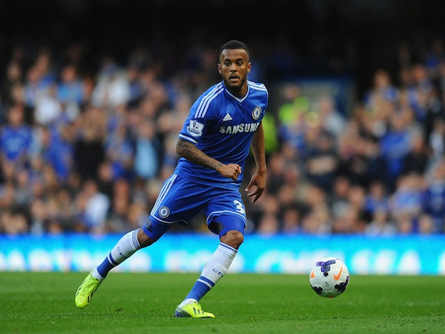 Ryan Bertrand of Chelsea in action during the Barclays Premier League match between Chelsea and Cardiff City at Stamford Bridge on October 19, 2013