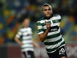 Sporting's Moroccan midfielder Zakaria Labyad celebrates after scoring a goal during the UEFA Europa League football match Sporting CP vs Videoton FC at the Alvalade stadium in Lisbon on December 7, 2012
