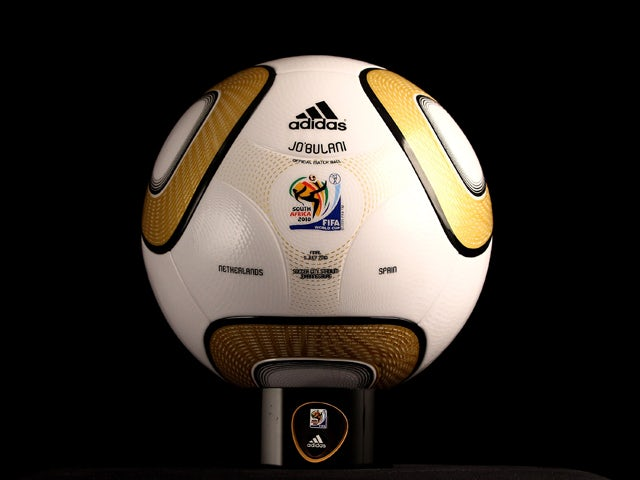 A view of the personalisation of the adidas Jo'bulani official match ball for the 2010 FIFA World Cup Final between the Netherlands and Spain is printed in the FIFA Headquarters on July 8, 2010