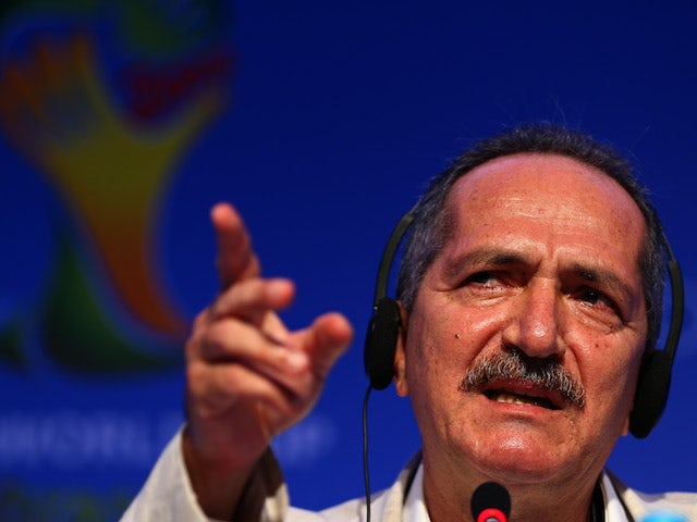 Brazilian Sports Minister Aldo Rebelo speaks during a press conference during a media day ahead of the Final Draw for the 2014 FIFA World Cup on December 4, 2013