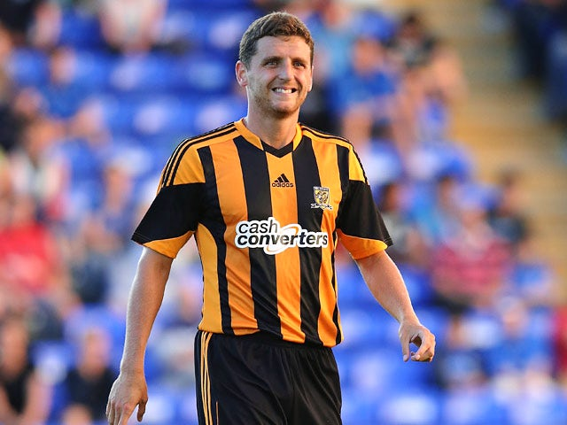 Hull's Alex Bruce in action against Peterborough during a friendly match on July 29, 2013