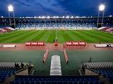 General view of Estadio de Los Juegos Mediterraneos pitch prior to start the La Liga match between UD Almeria and Real Madrid CF on November 23, 2013