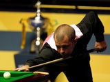 Barry Hawkins of England in action against Ricky Walden of England during the Semi Final match of the Betfair World Snooker Championship at the Crucible Theatre on May 4, 2013
