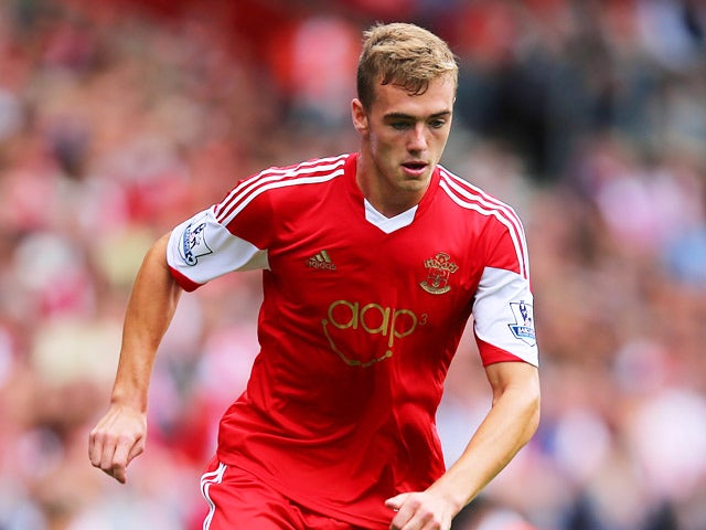 Southampton's Calum Chambers in action against Sunderland during their Premier League match on August 24, 2013