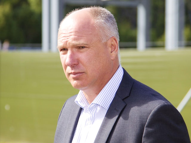 David White CEO of New Zealand Cricket arrives to speak to the media about the International Cricket Council (ICC) investigation into match fixing by past players at University Oval in Dunedin, New Zealand, on December 5, 2013