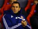 Sunderland manager Gus Poyet in the dugout during the match against Chelsea on December 4, 2013