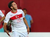 Turkey's Hakan Calhanoglu in action against Australia during their World Cup group match on June 28, 2013