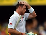 England's Ian Bell leaves the ground following his dismissal during day four of the first Ashes test on November 24, 2013