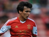 Jack Cork of Southampton in action during the pre season friendly match between Southampton and Real Sociedad at St Mary's Stadium on August 10, 2013