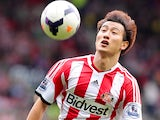 Sunderland's Ji Dong-Won in action against Fulham on August 17, 2013