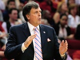 Head coach Kevin McHale of the Houston Rockets is seen on the court during the game against the Los Angeles Lakers at Toyota Center on November 7, 2013