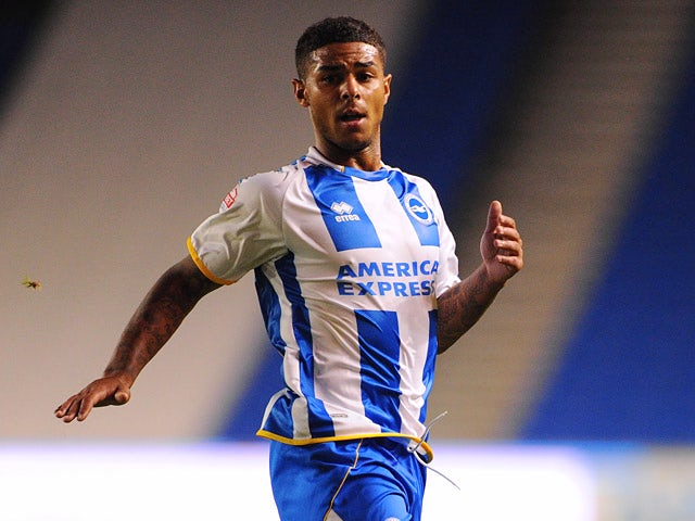 Brighton's Liam Bridcutt in action against Newport County during their League Cup first round match on August 6, 2013