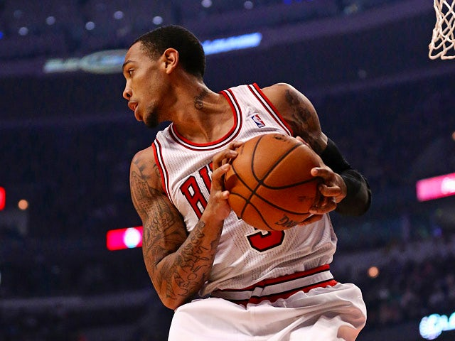 Chicago Bulls' Malcolm Thomas in action against Toronto Raptors on April 9, 2013