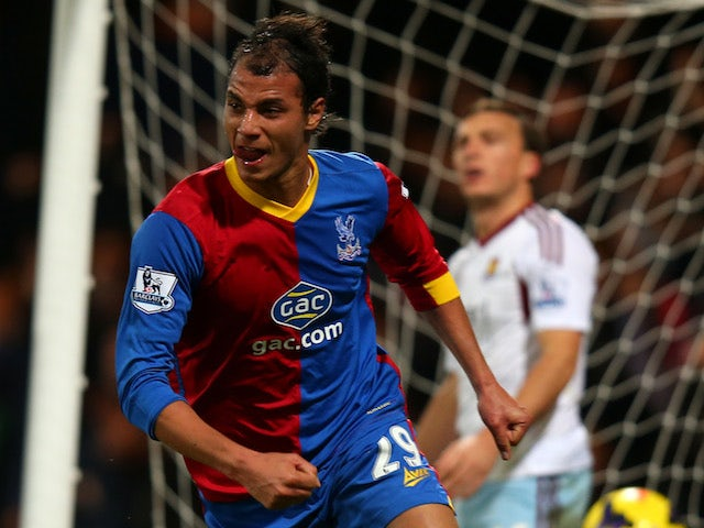 Marouane Chamakh of Crystal Palace celebrates after scoring the opening goal during the Barclays Premier League match between Crystal Palace and West Ham United on December 3, 2013