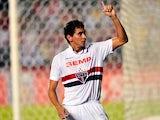 Sao Paulo's Paulo Henrique Ganso celebrates his goal against Ponte Preta on November 20, 2013