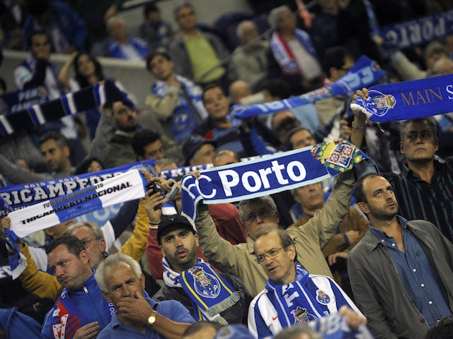 Porto supporters during the UEFA Champions League group stage match between FC Porto and Club Atletico de Madrid held on October 1, 2013