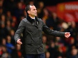 Everton manager Roberto Martinez on the touchline during the match against Manchester United on December 4, 2013