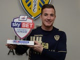 Leeds United midfielder Ross McCormack with his Player of the Month award for November on December 5, 2013