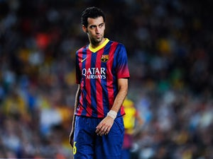 Busquets out with sprained ankle ligaments