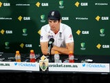Alastair Cook of England speaks to the media during a press conference at the end of day five of the Second Ashes Test Match between Australia and England at Adelaide Oval on December 9, 2013