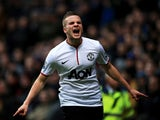 Tom Cleverley of Manchester United celebrates as he scores their thrid goal during the Barclays Premier League match between Aston Villa and Manchester United at Villa Park on December 15, 2013