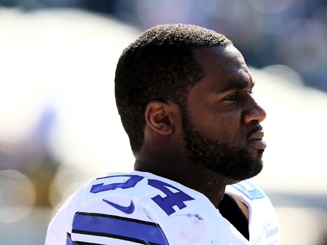 Bruce Carter #54 of the Dallas Cowboys looks on from the sideline before the game against the Philadelphia Eagles on October 20, 2013