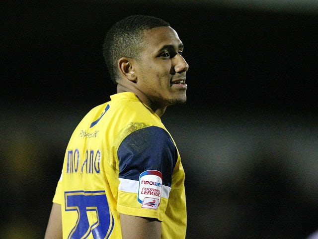 Cristian Montano of Oxford United in action during the npower League Two match between Northampton Town and Oxford United at Sixfields Stadium on April 6, 2012