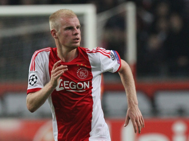 Davy Klaassen of AFC Ajax in action during the UEFA Champion League group stage match between AFC Ajax and Celtic FC held on November 6, 2013
