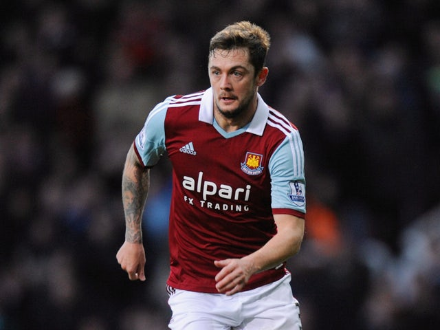George McCartney of West Ham United during the Barclays Premier League match between West Ham United and Fulham at Boleyn Ground on November 30, 2013