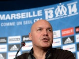 Marseille's sporting director and interim coach Jose Anigo holds a joint press conference with the club's president at the Commanderie in Marseille on December 9, 2013