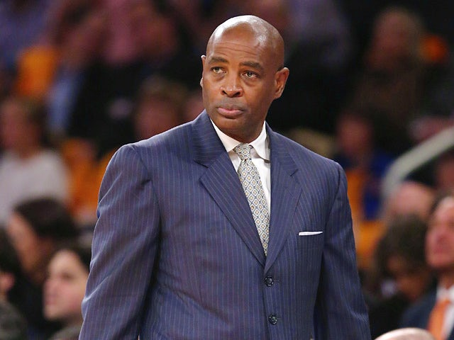 Milwaukee Bucks head coach Larry Drew looks on during the game against New York Knicks on October 30, 2013
