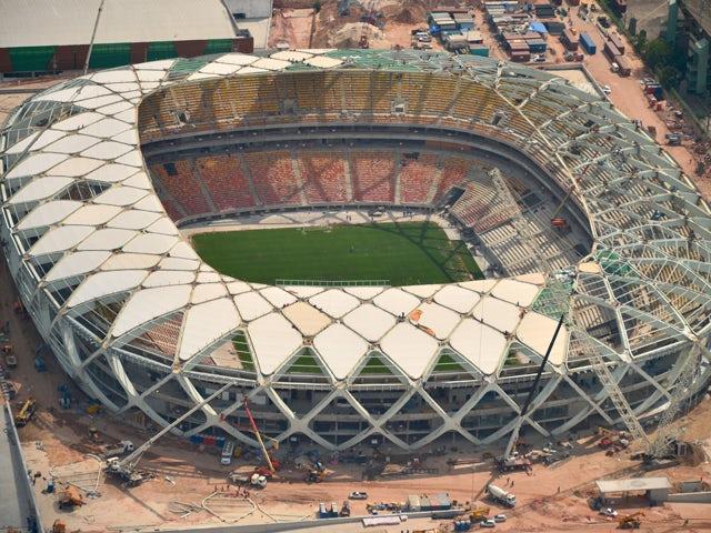 Arena Manaus football stadium in Manaus, Brazil on December 10, 2013