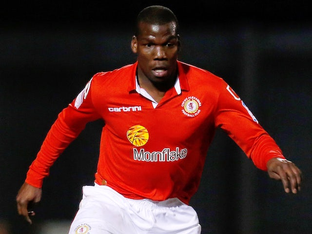 Mathias Pogba of Crewe in action during the Johnstone's Paint Trophy Northern Section Final Second Leg match between Crewe Alexandra and Coventry City on February 20, 2013