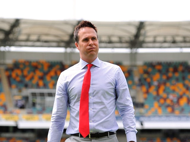 Former England captain Michael Vaughan on the field ahead of day three of the First Ashes Test match between Australia and England at The Gabba on November 23, 2013