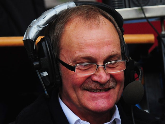 Ex-Ipswich Town and England footballer Mick Mills looks on from the commentary box prior to the FA Cup with Budweiser Third Round match between Aston Villa and Ipswich Town at Villa Park on January 5, 2013