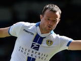 Noel Hunt of Leeds in action during the Sky Bet Championship match between Leeds United and Brighton & Hove Albion at Elland Road on August 03, 2013