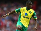 Norwich's Sebastien Bassong in action against Arsenal on October 19, 2013