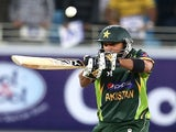 Shahid Afridi of Pakistan bats during the first Twenty20 International match between Pakistan and Sri Lanka on December 11, 2013
