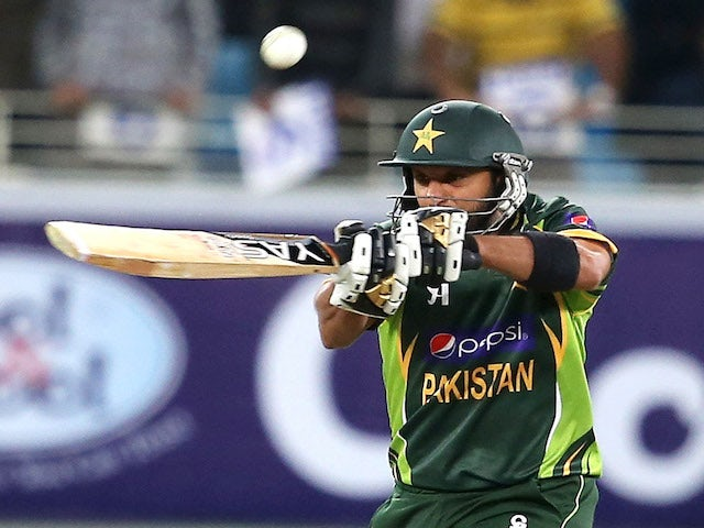 Shahid Afridi of Pakistan bats during the first Twenty20 International match between Pakistan and Sri Lanka on December 11, 2013