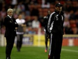 Tony Pulis, manager of Stoke during the Carling Cup 3rd Round tie between Stoke City and Fulham at the Britannia Stadium on September 21, 2010