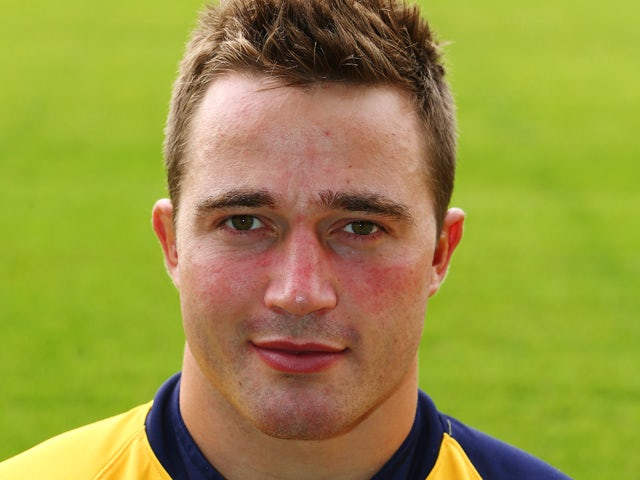 Alex Grove of Worcester Warriors during the Worcester Warriors photocall at Sixways Stadium on August 21, 2013