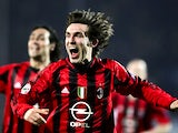 Andrea Pirlo celebrates scoring for March 05, 2005.