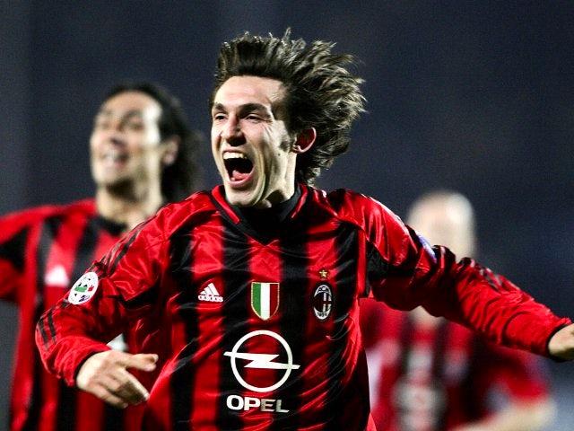 Andrea Pirlo celebrates scoring for March 05, 2005.